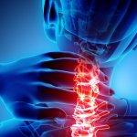 Neck Painful - Cervical Spine Skeleton X-ray, 3D Illustration.